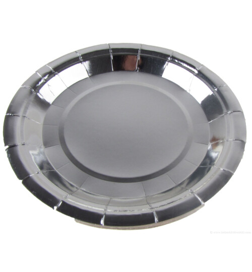 Парти чинии металик  сребърни