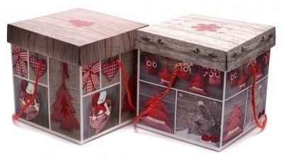 Подаръчна кутия - Коледни мотиви 15 см.