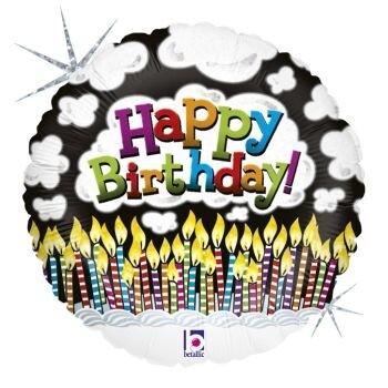Балон Happy Birthday с много свещички