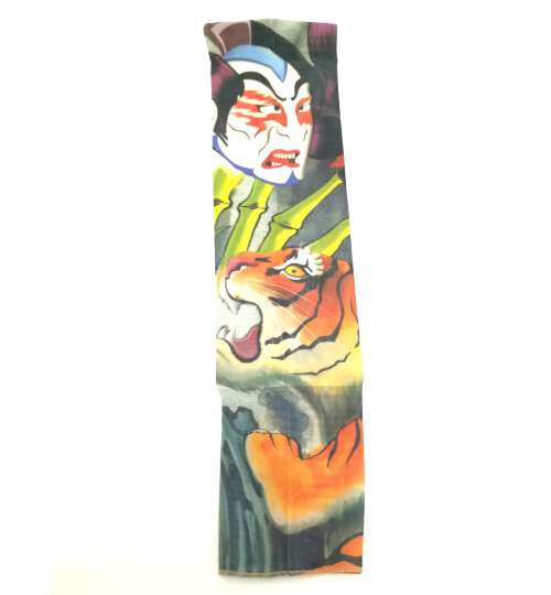 Ръкав татуировка с тигър и дявол