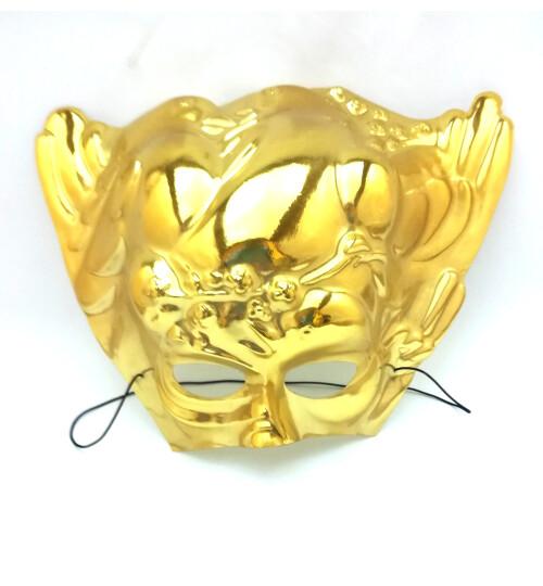 Златна маска с двойка гълъбчета