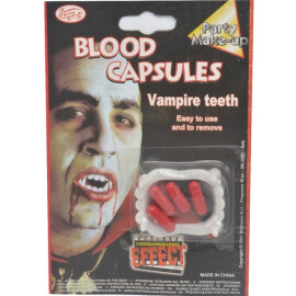 Вампирски зъби с капсули кръв