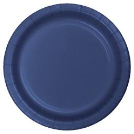 Едноцветни парти чинии - сини
