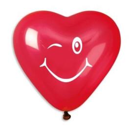 Балони сърца намигване