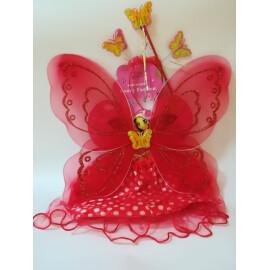 Карнавален комплект червена пеперуда
