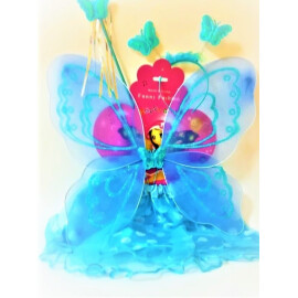Карнавален комплект синя пеперуда
