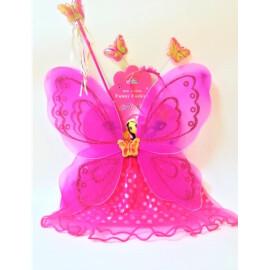 Карнавален комплект цикламена пеперуда