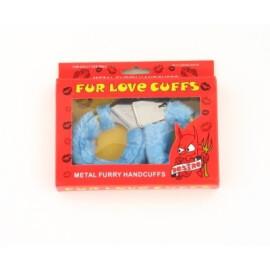 Комплект любовни белезници със зарчета - сини
