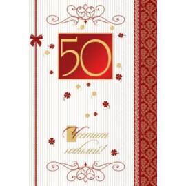 Юбилейна картичка голяма - 50, 60, 70