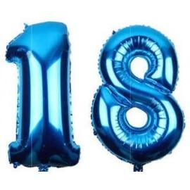 Балон синя цифра 81 см.