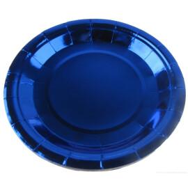 Парти чинии металик  сини - 23 см.