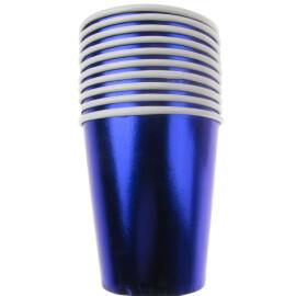 Парти чаши металик сини
