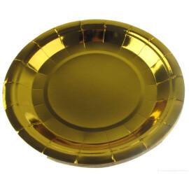 Парти чинии металик  златни - 23 см.
