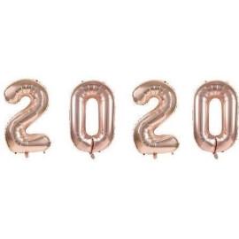 Балон цифра 102 см. - розово злато