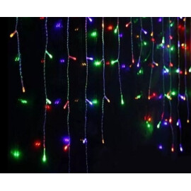 Новогодишни лампи завеса цветна