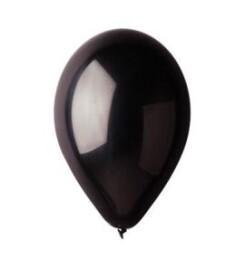 Балони металик черни - 28см.