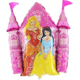 Фолиев балон Замък с принцеси