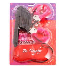 Еротичен комплект - белезници с камшик