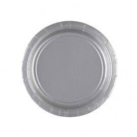 Едноцветни парти чинии - сребърни