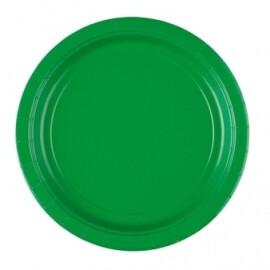 Едноцветни парти чинии - зелени