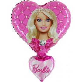 Фолиев балон Барби Сърце