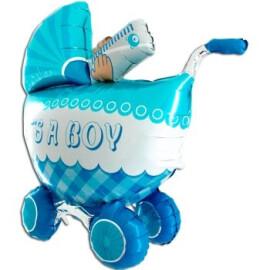 Балон Бебешка количка за момче