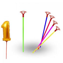 Дръжки за фолиеви балони