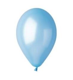 Балони металик светло сини - 30см.