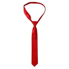 Сатенена вратовръзка - червена