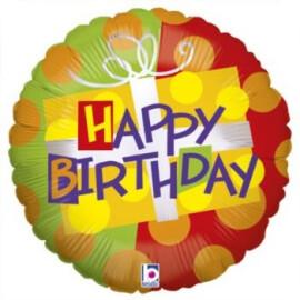 Балон Happy Birthday подарък
