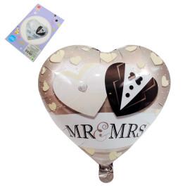 Балон сърце MR & MRS