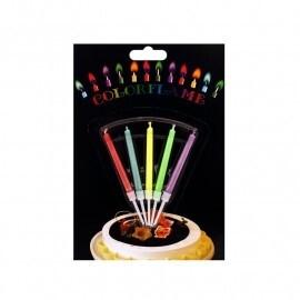 Парти свещи цветен пламък