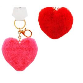 Плюшено сърце - Ключодържател