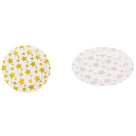 Парти чинии на звезди - Злато и сребро