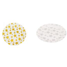Парти чинии на звезди - Злато и сребро - 23см.
