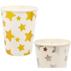 Парти чаши на звезди - Злато и сребро