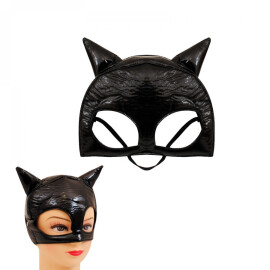 Маска на котка - черна