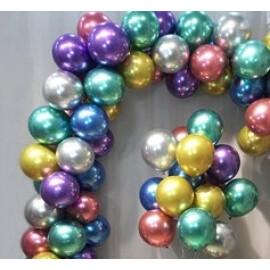 Балони хром микс - 13см.