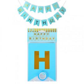 Парти украса Happy Birthday - син