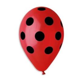 Червени балони на черни точки