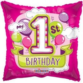 Балон 1st birthday girl