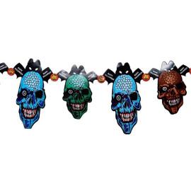 Гирлянд Happy Halloween черепи