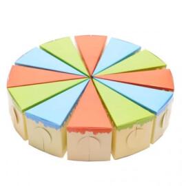 Картонена торта - разноцветна
