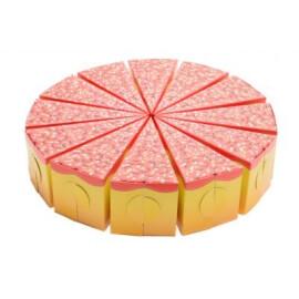Картонена торта с цветни захарни пръчици