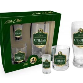 Комплект от 3 чаши - 100% Стилен мъж