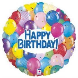 Балон Happy Birthday с балони