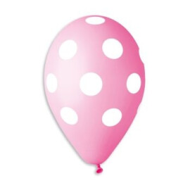 Розови балони на бели точки