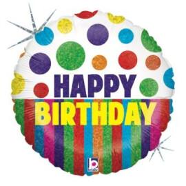 Балон Happy Birthday с точки