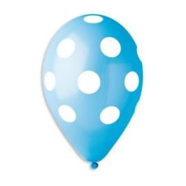 Сини балони на бели точки