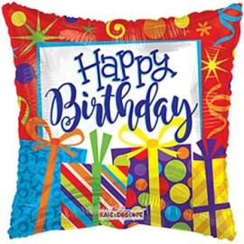 Балон Happy Birthday подаръци